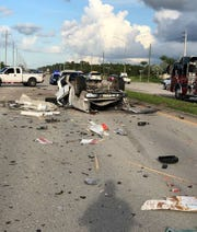 A 27-year-old Naples man died Friday, Aug. 3, 2018, after a five-vehicle crash on Immokalee Road and Quarry Drive, according to the Florida Highway Patrol.