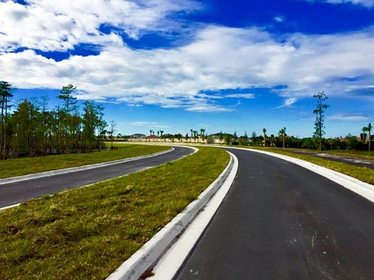 This two-lane divided road in Collier County will eventually extend Logan Boulevard to Bonita Springs.