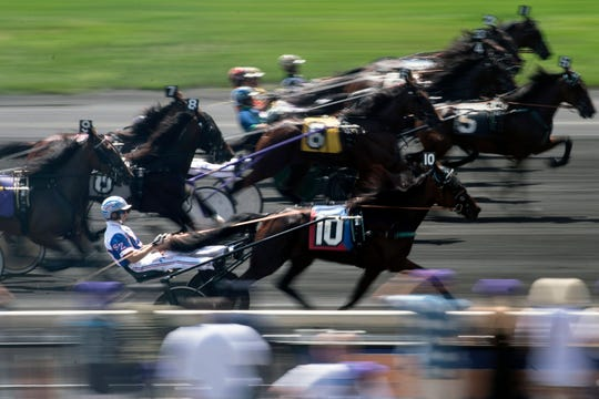 The start of the fifth race during Hambletonian Day at the Meadowlands on Saturday, August 4, 2018.