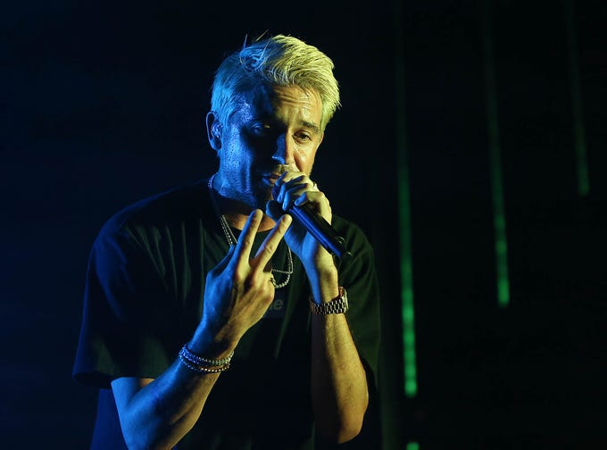 G-Eazy performs during The Endless Summer Tour at Ak-Chin Pavilion in Phoenix on Aug. 3, 2018.