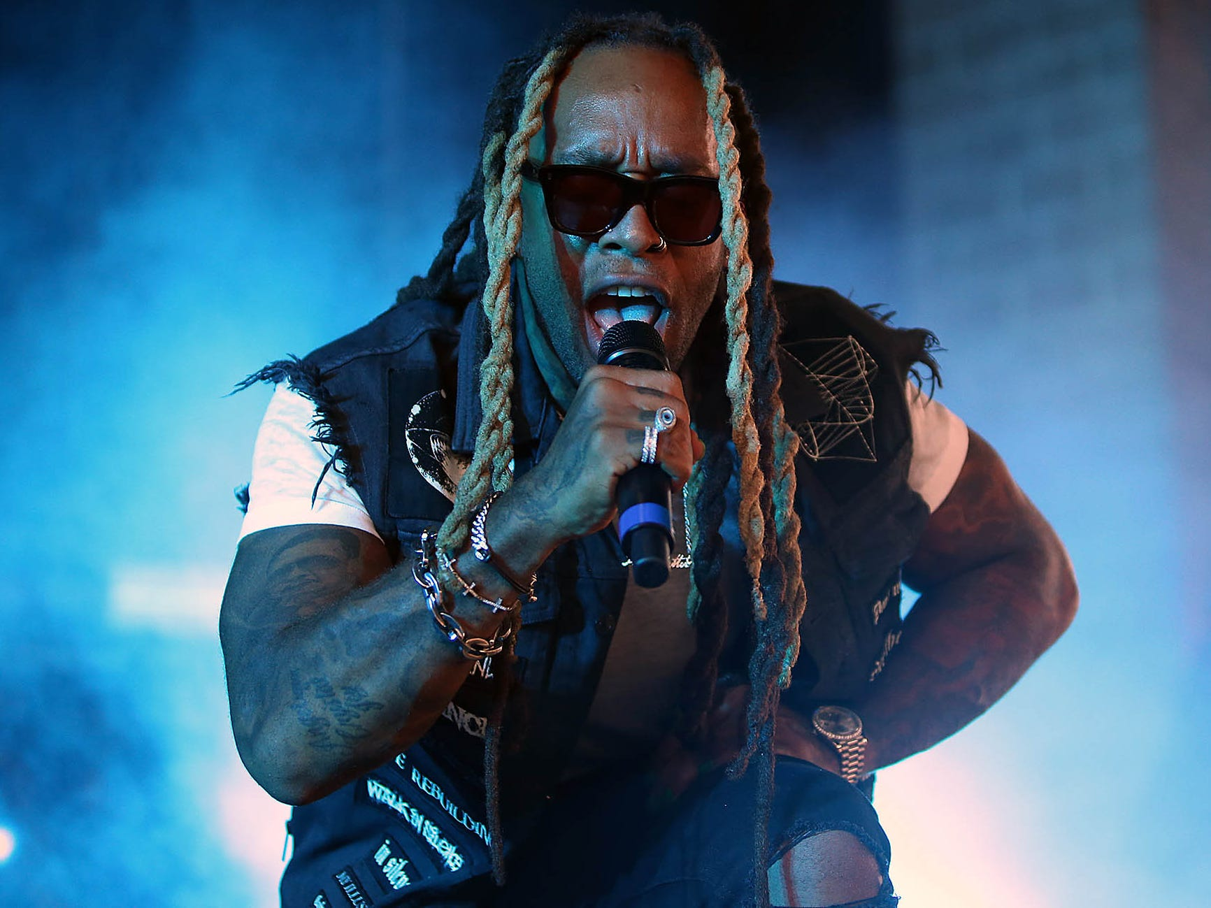 Ty Dolla $ign performs during G-Eazy's The Endless Summer Tour at Ak-Chin Pavilion in Phoenix on Aug. 3, 2018.