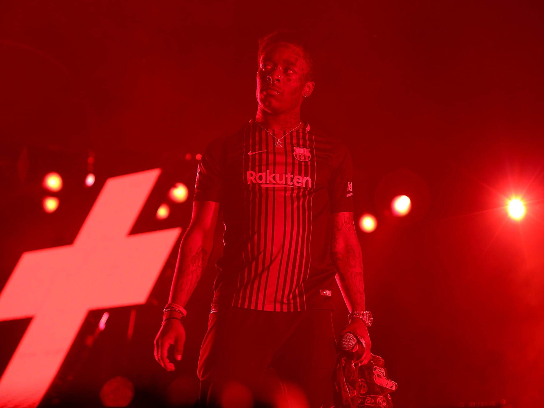 Lil Uzi Vert performs during G-Eazy's The Endless Summer Tour at Ak-Chin Pavilion in Phoenix on Aug. 3, 2018.