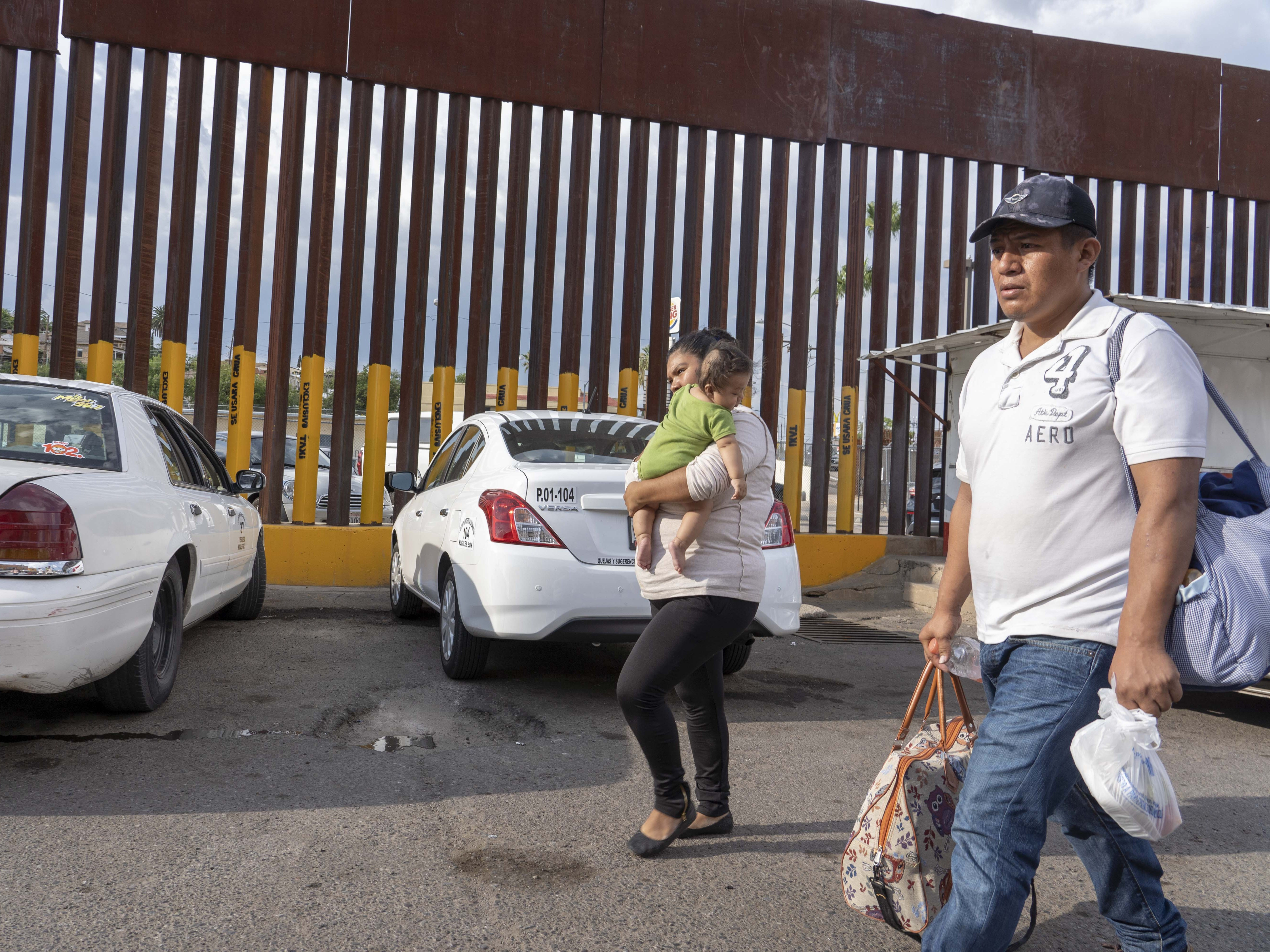 Elation Laguna Flores, Miriam Chino Gonzalez, and their baby, Ivan Laguna, went to the at the DeConcini port of entry to seek asylum. The family is from Guerrero, Mexico.