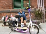 Brenda Fields, 72, is often at First Friday events in downtown York. She is known for riding her custom scooter.