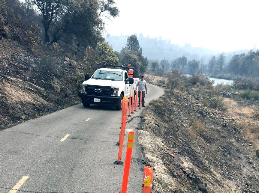 The Carr Fire burned the hillsides along a section of the Sacramento River Trail.