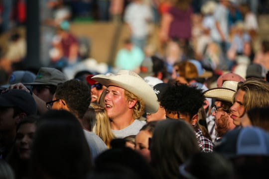 Fans listen to music during the Wild West Fest Friday, Aug. 3. 2018, at Bill Aylor Sr. Memorial RiverStage.