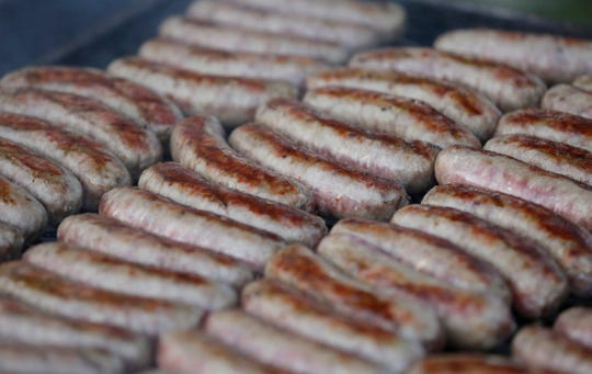 Brats will be for sale at the Oktoberfest Fall Family Festival in Bloomington on Oct. 20, 2018.