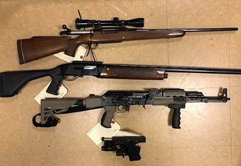 Guns seized in Santa Paula by federal authorities.