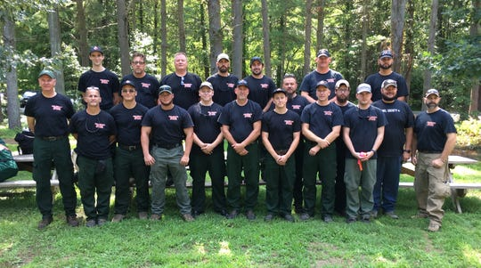 The Delaware firefighters who will leave on Sunday, Aug. 5, to help fight wildfires in the Northwest.