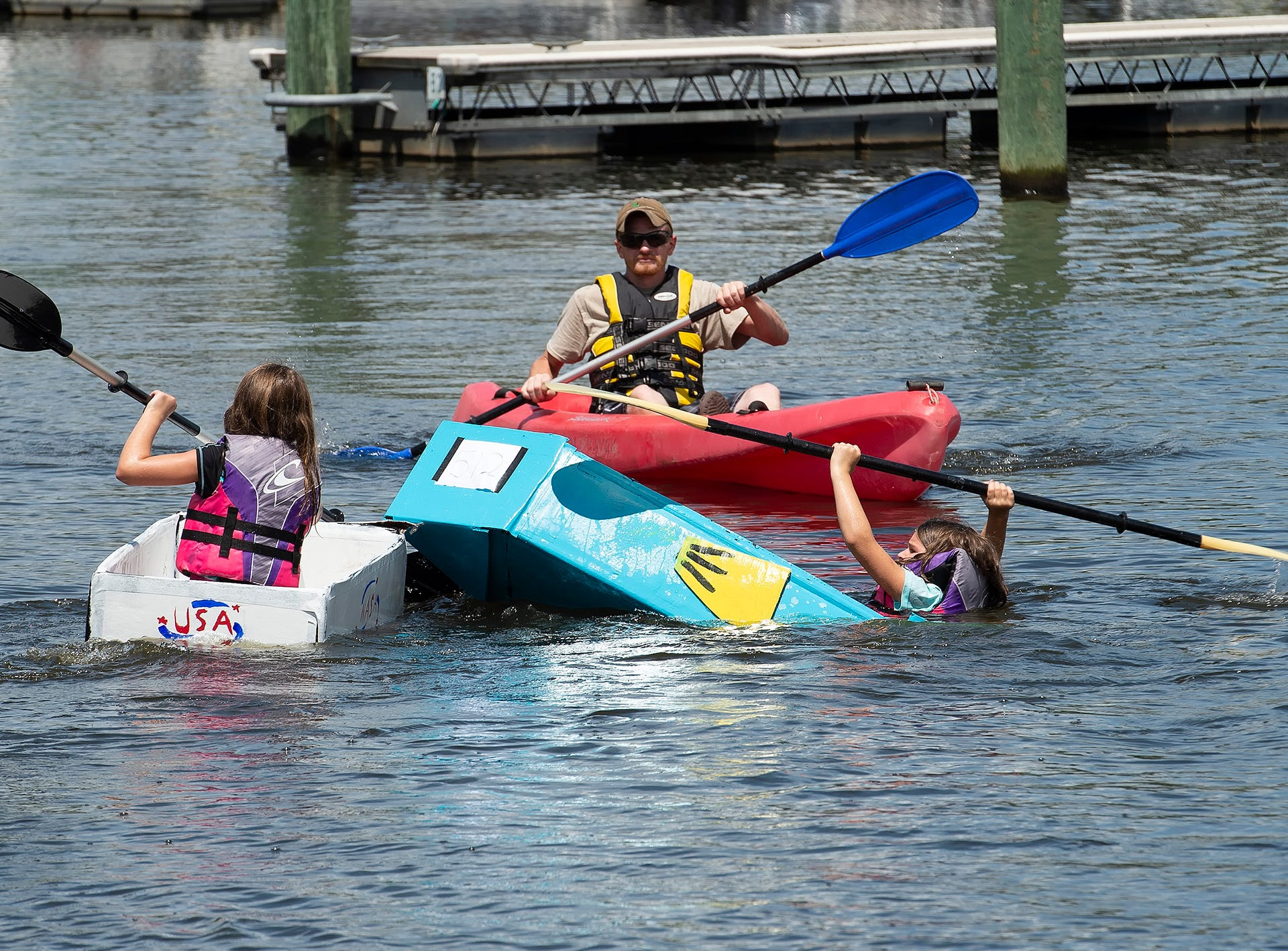 The Town of Blades hosts the fifth annual Recycled Cardboard Boat Regatta.