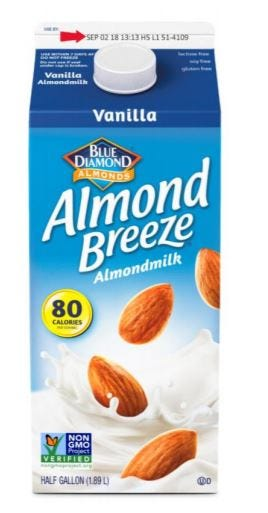 More than 145,000 half-gallons of the Almond Breeze nut milk have been voluntarily recalled from 28 states because the product accidentally contains actual milk.