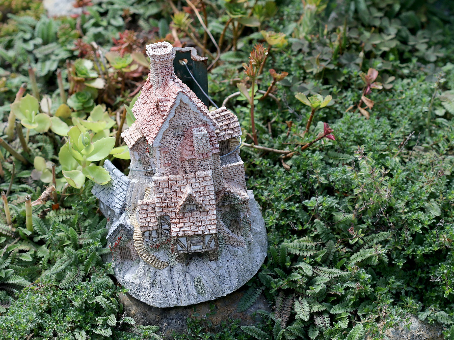 A fairy house on display for the 30th Anniversary celebration open house at Anna Smith Garden  on Saturday, August 4, 2018.