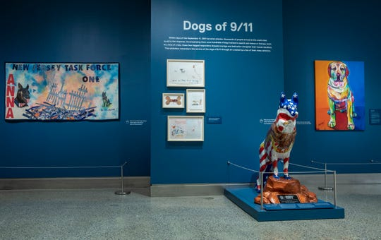 "The exhibition ""Dogs of 9/11"" at the 9/11 Memorial Museum opened in late July and will run until fall 2019."
