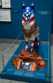 This sculpture depicting a German shepherd -- the breed most commonly used for search and rescue at the World Trade Center site -- was part of a public art project called DOGNY, America's Tribute to Search and Rescue Dogs, created by the American Kennel Club.