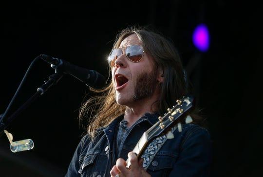 Blackberry Smoke lead vocalist Charlie Starr at the 2018 Hinterland music festival.