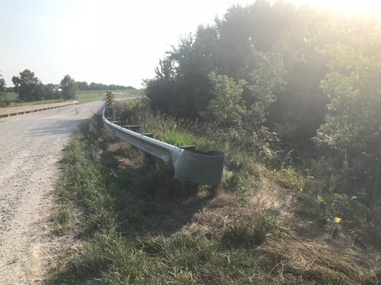 Near the location, south of West Point, Iowa, where authorities said Sunday, Aug. 5, 2018, they were investigating the discovery of a body. Officials in the area declined to comment.