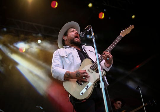 Nathaniel Rateliff and the Night Sweats perform on Saturday, Aug. 4, 2018, during the Hinterland music festival in St. Charles.