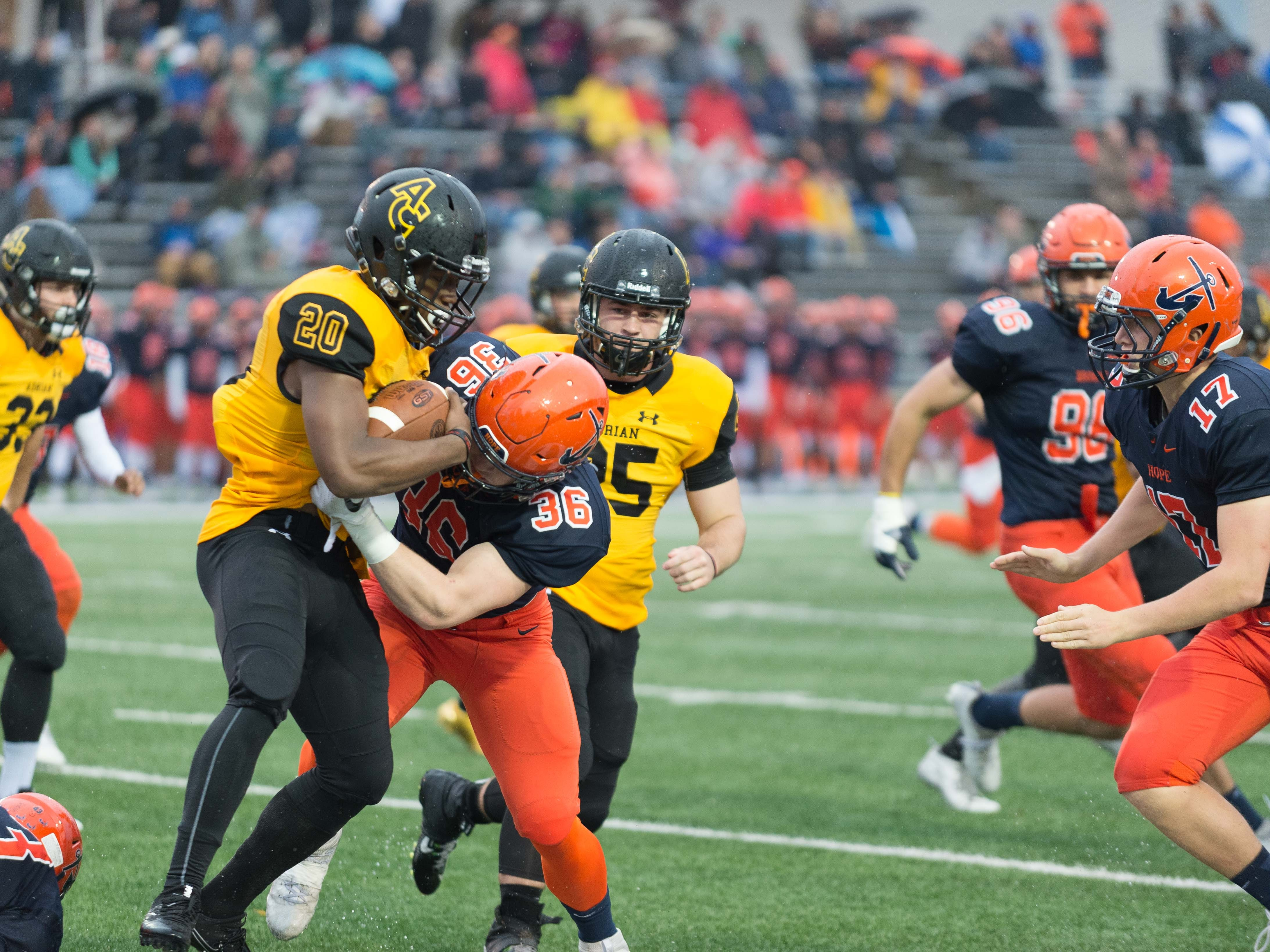 19. Hope at Adrian. When: Nov. 10. Where: Adrian. The buzz: This is the only Division III game to make the list, but make no mistake, this game is a classic year-in and year-out.