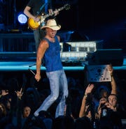Kenny Chesney performs at Ford Field in Detroit on Aug. 4, 2018.