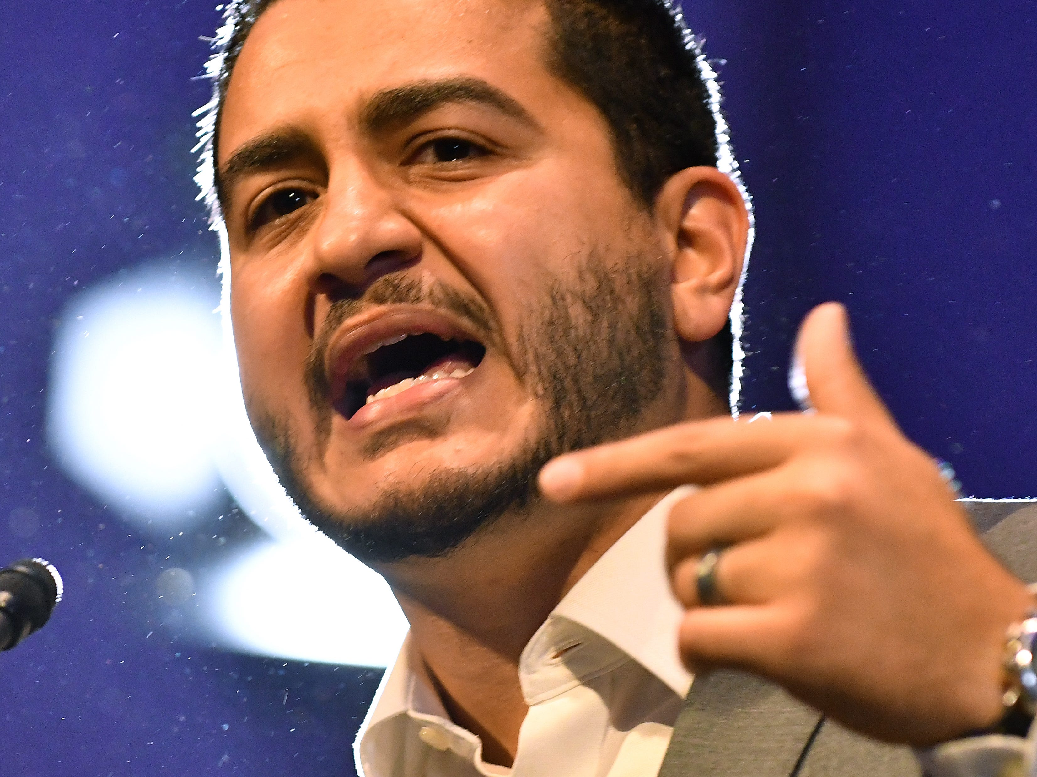 Michigan Democratic gubernatorial  candidate Abdul El-Sayed at Cobo Center.