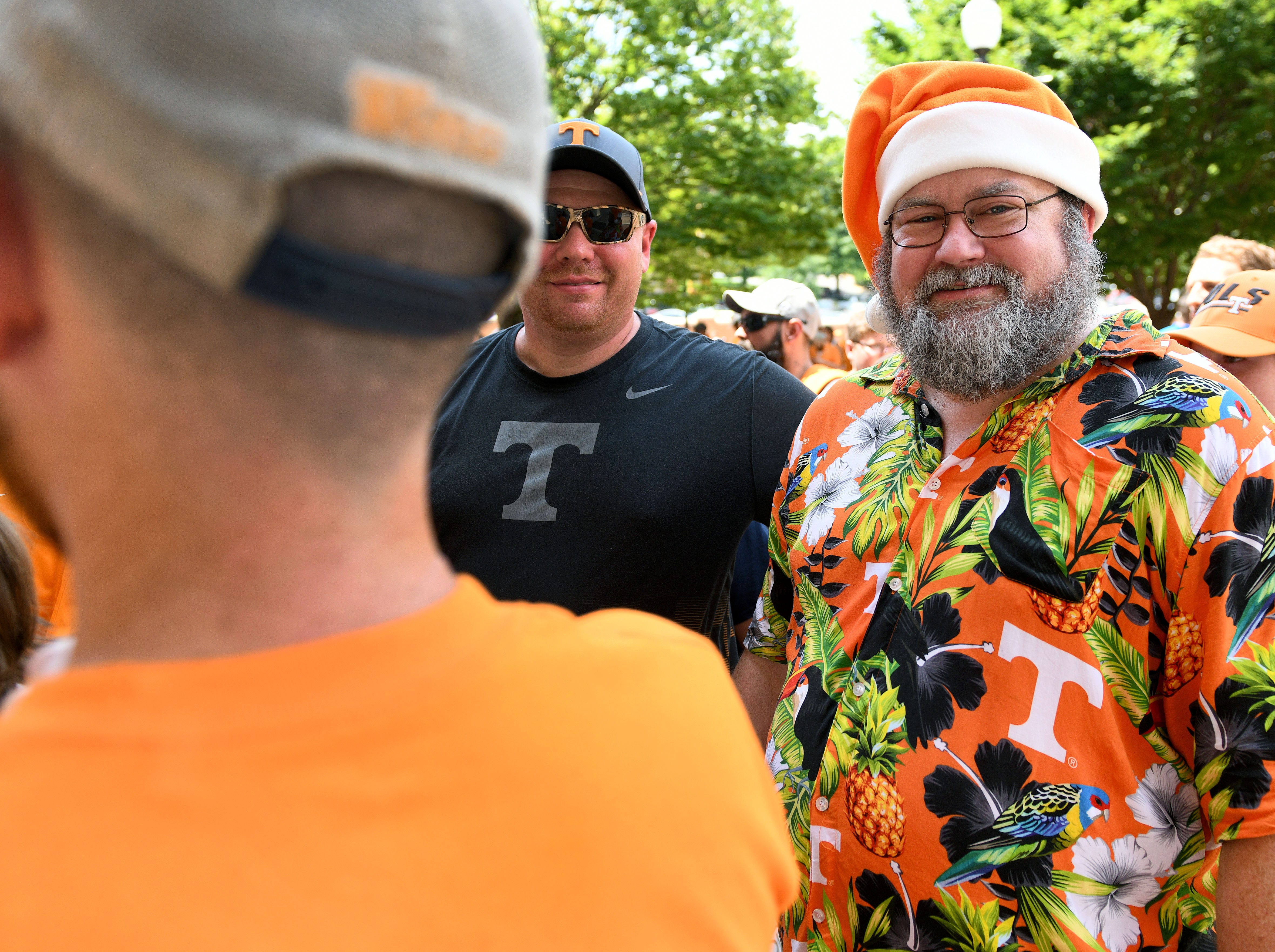 The first 3,000 fans get an armband to go on the field after practice and get an autograph during UT football Fan Day in Neyland Stadium Sunday, August 5, 2018.