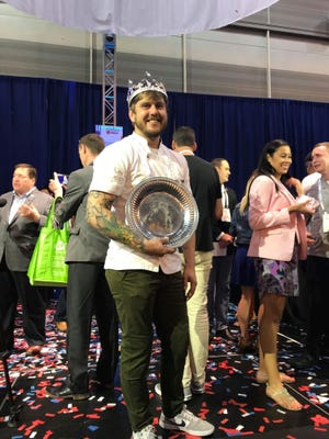 Chef Ryan Trahan of the Blue Dog Cafe was crowned American Seafood Kingat the 15th Annual Great American Seafood Cook-Off Saturday in New Orleans.