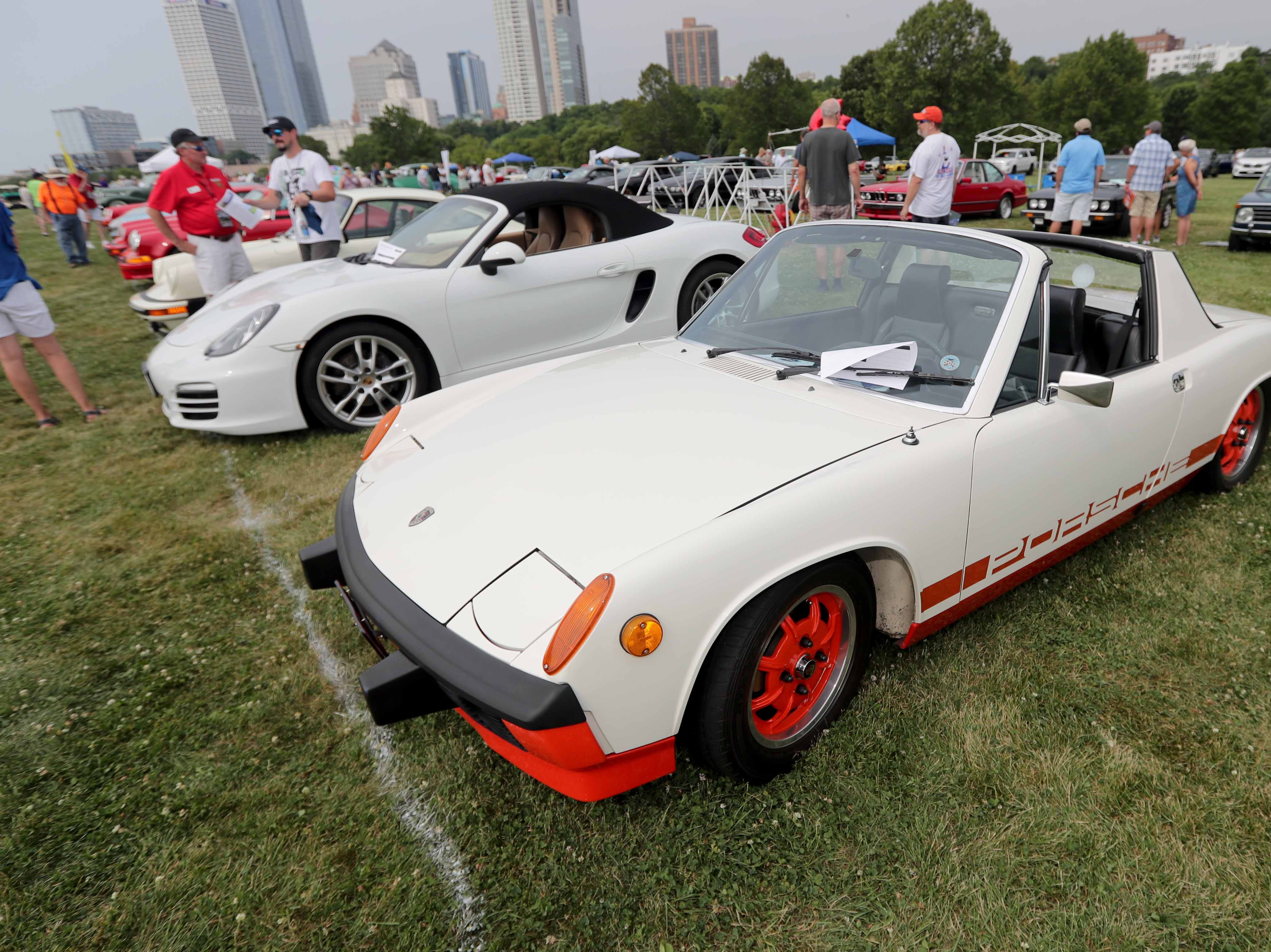 1974 Porsche 914. The 2018Milwaukee Concours d'Elegance car show took place at Veterans Park in Milwaukee on Sunday, August 5, 2018. The show features vintage vehicles from Ferrari and Jaguar to classic mint condition Chevys and Corvettes.     -  Photo by Mike De Sisti / Milwaukee Journal Sentinel