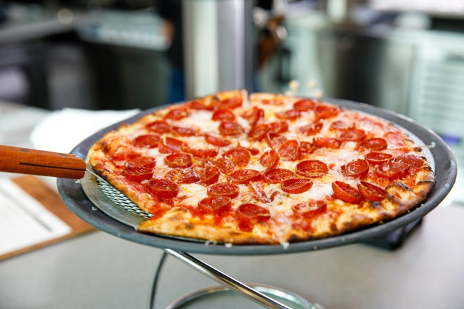 The Classic Pepperoni pizza at Timeless restaurant on U.S. 41 in Naples.