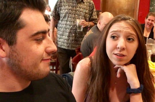 Fair Lawn High School graduates Nicholas Brenneisen and Erin Murray (class of 2017) say teacher Michael Perrotta was like a father to them in drama club.