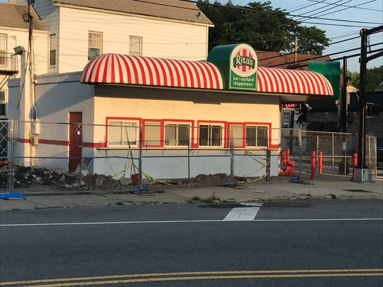 The sun sets on Rita's at the corner of Union and Belleville avenues in Belleville on July 3, 2018.