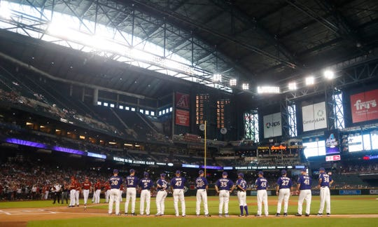 Major League Baseball Commissioner Rob Manfred has declined to speculate about whether the Arizona Diamondbacks will leave Chase Field for a new home.