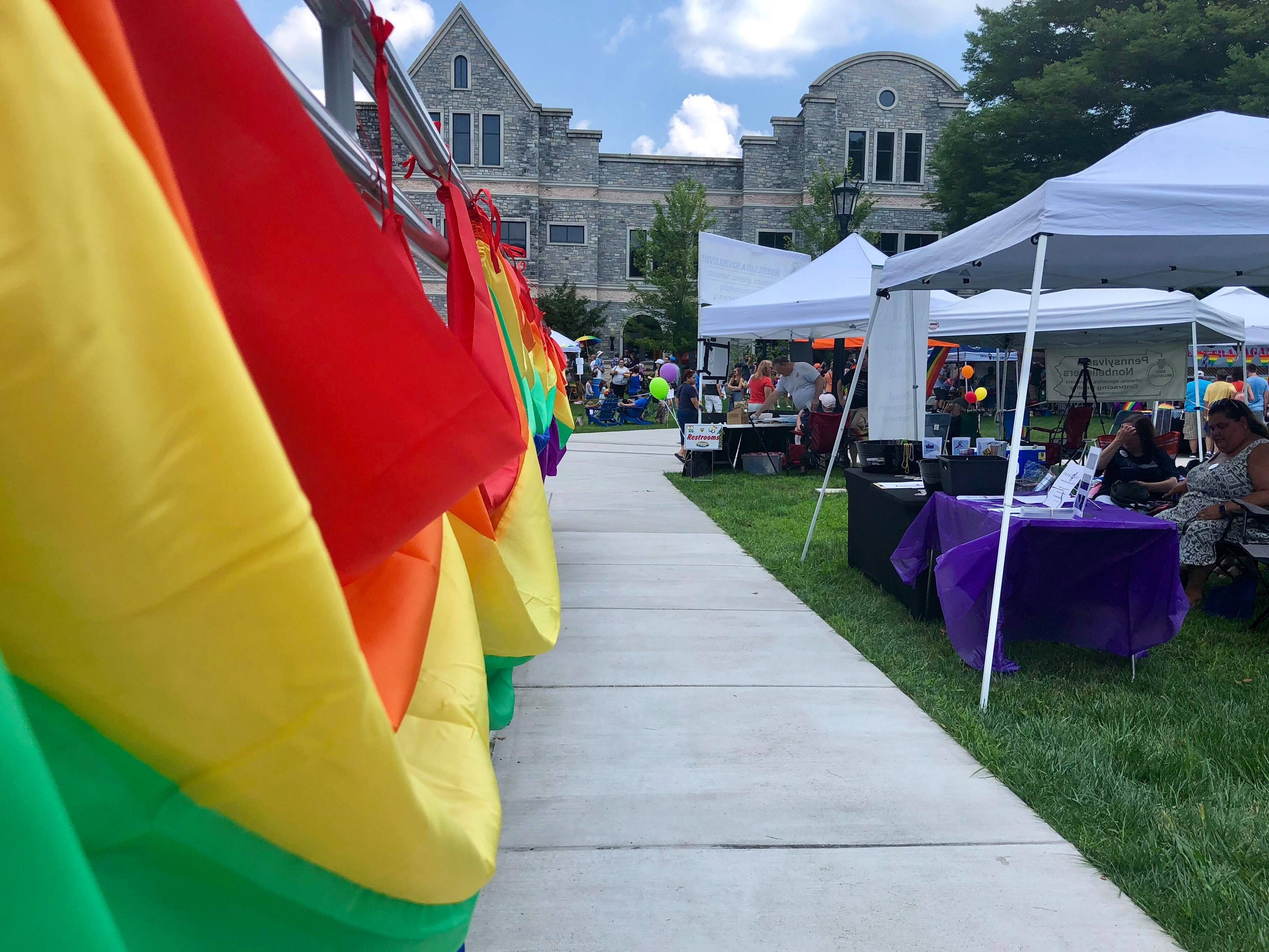 Locals from all over the area came out to show their support for the LGBTQ community at Franklin County's first Pride festival the afternoon of Sunday, Aug. 5, 2018 at Wilson College in Chambersburg.