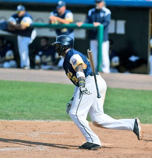 Telvin Nash, seen here in a file photo, hit his Atlantic League-leading 20th homer on Sunday for the York Revolution.