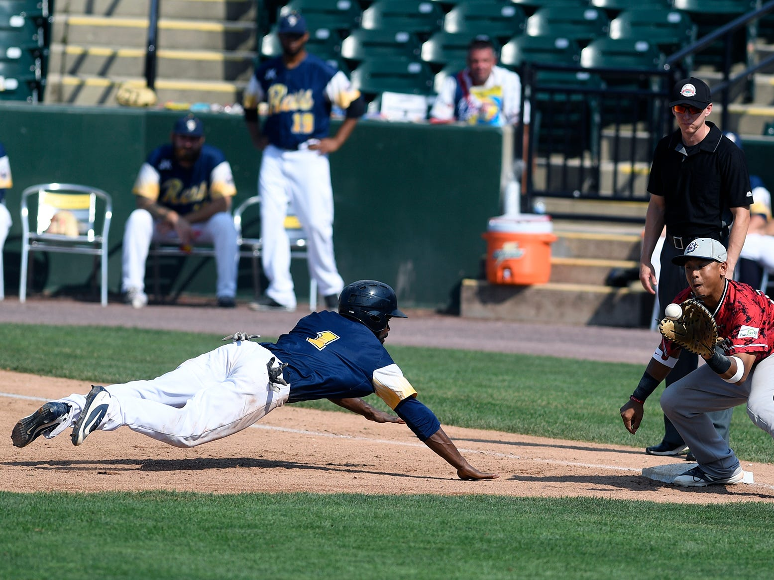 The York Revolution host the Southern Maryland Blue Crabs in game two of a double header, Sunday, August 5, 2018. John A. Pavoncello photo