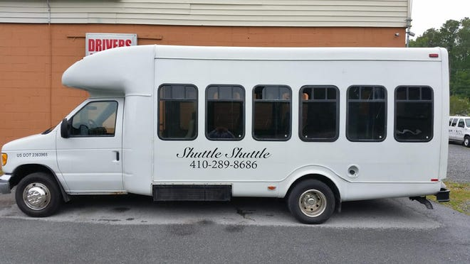 This shuttle bus was stolen from a business in West Ocean City early on Sunday, Aug. 5