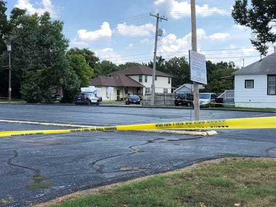 Springfield police investigate a homicide Sunday on North Grant Avenue.