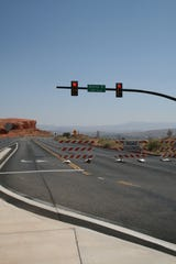 Red Cliffs Parkway in St. George was closed between 200 East and 900 East on Aug. 5, 2018, ahead of the Tour of Utah prologue the next day.