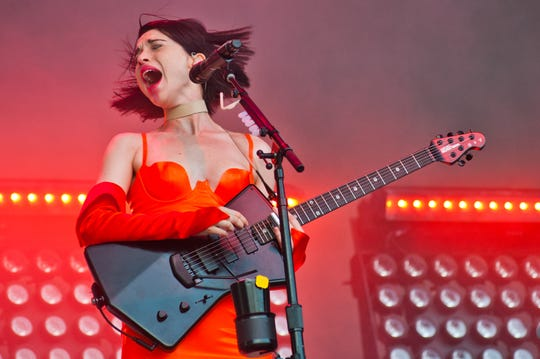 St. Vincent took the stage during Day 3 of Lollapalooza.