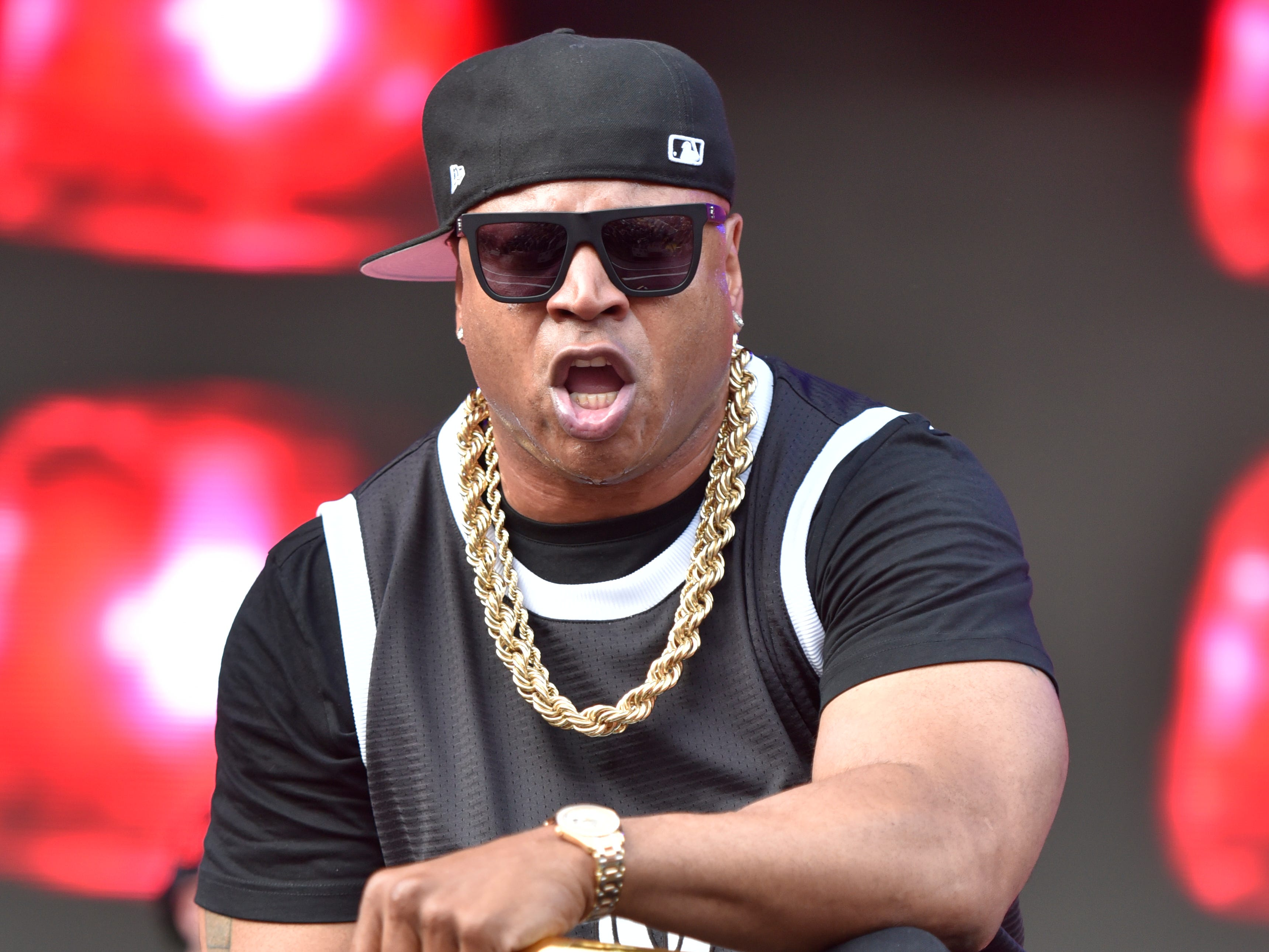 LL Cool J brought out the bling while performing on Day 3 at Lollapalooza.