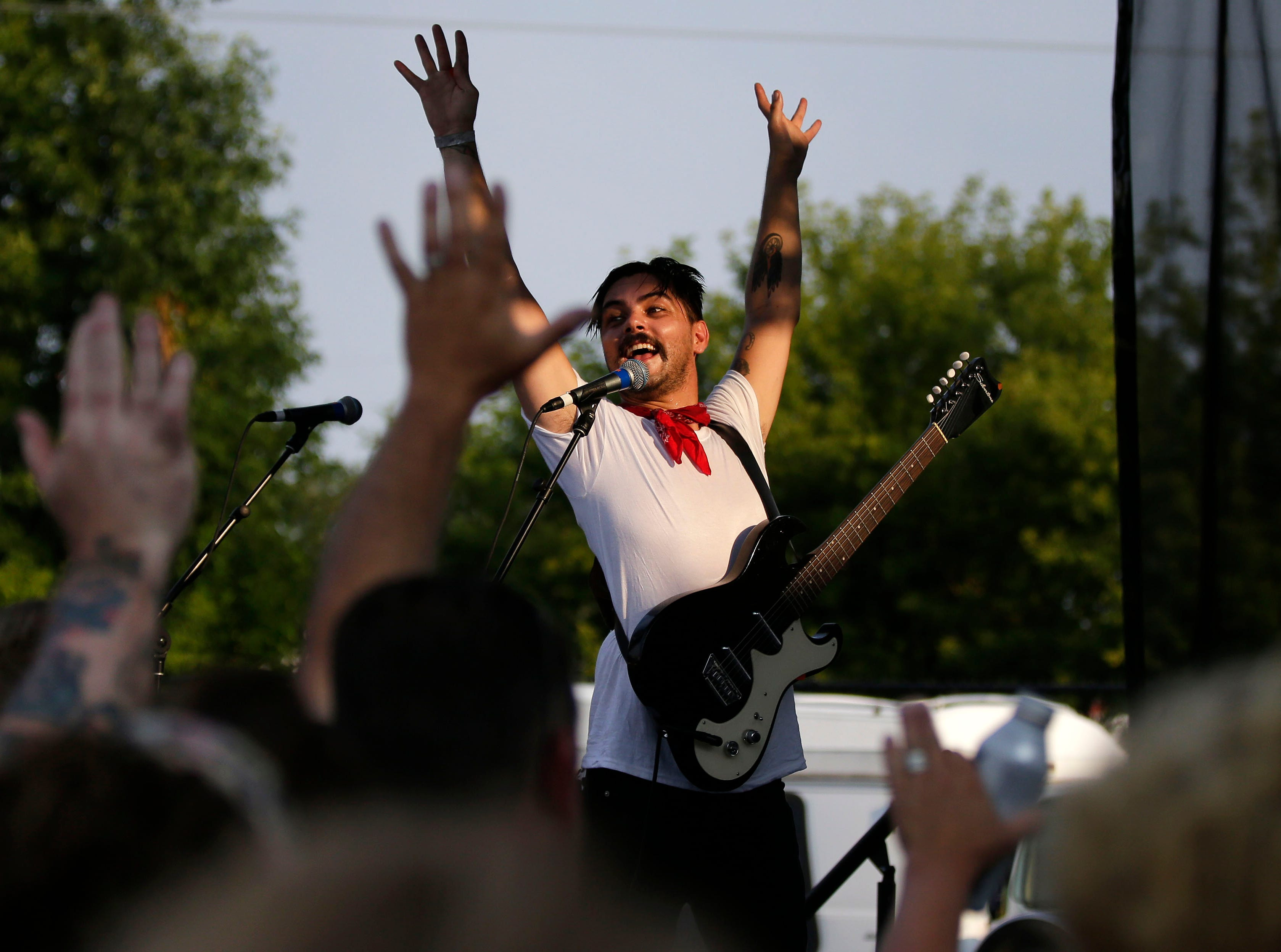 Jesse Ray and the Carolina Catfish perform as Mile 6, the Mile of Music festival comes to a close Sunday, August 5, 2018, in Appleton, Wis.