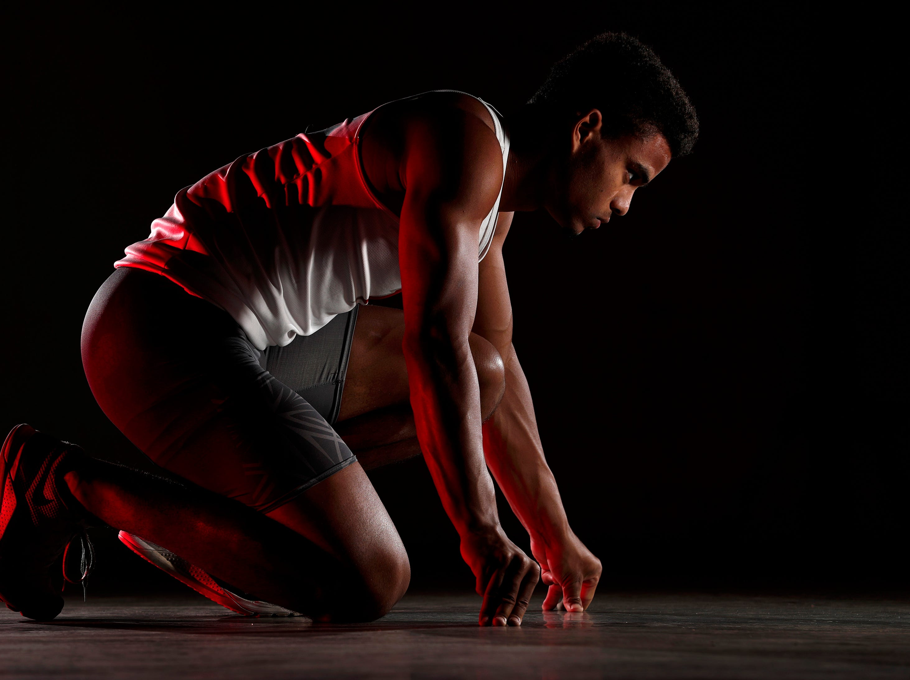 DJ Stewart, of Kimberly High School, is the Post-Crescent's boys track athlete of the year Monday, July 30, 2018, in Appleton, Wis. Danny Damiani/USA TODAY NETWORK-Wisconsin