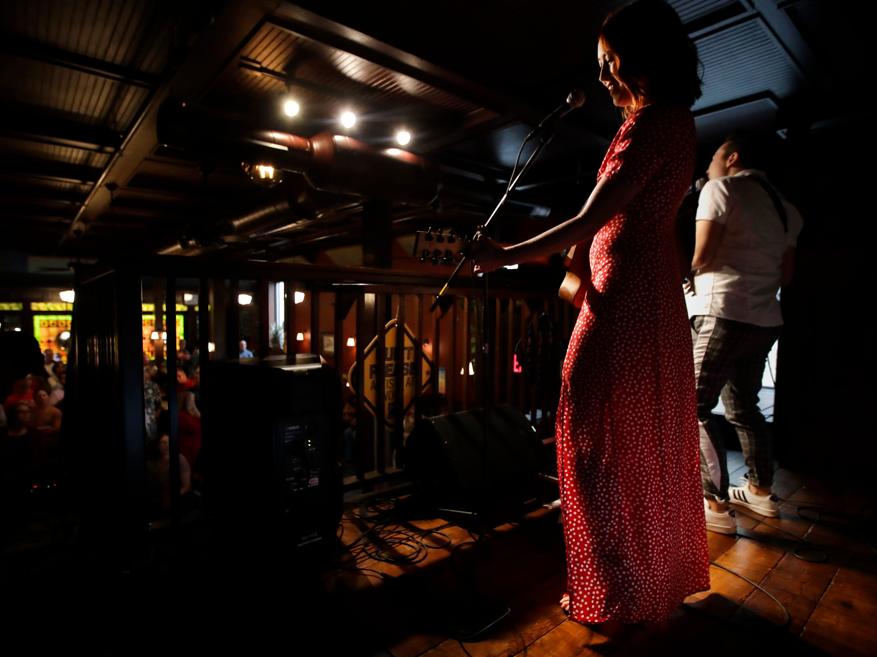 Chasing Lovely performs at McFleshman's Brewing Co. during the first day of Mile of Music Thursday, Aug. 2, 2018, in Appleton, Wis.