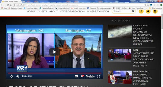 "Vermont Secretary of State Jim Condos appeared on ""Matter of Fact"" with Soledad O'Brien on Sunday, Aug. 12, 2018. ."