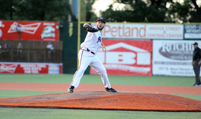 Starting pitcher Michael Jacob struck out 11 batters in Paints 3-1 win against Kokomo on Sunday at V.A. Memorial Stadium.