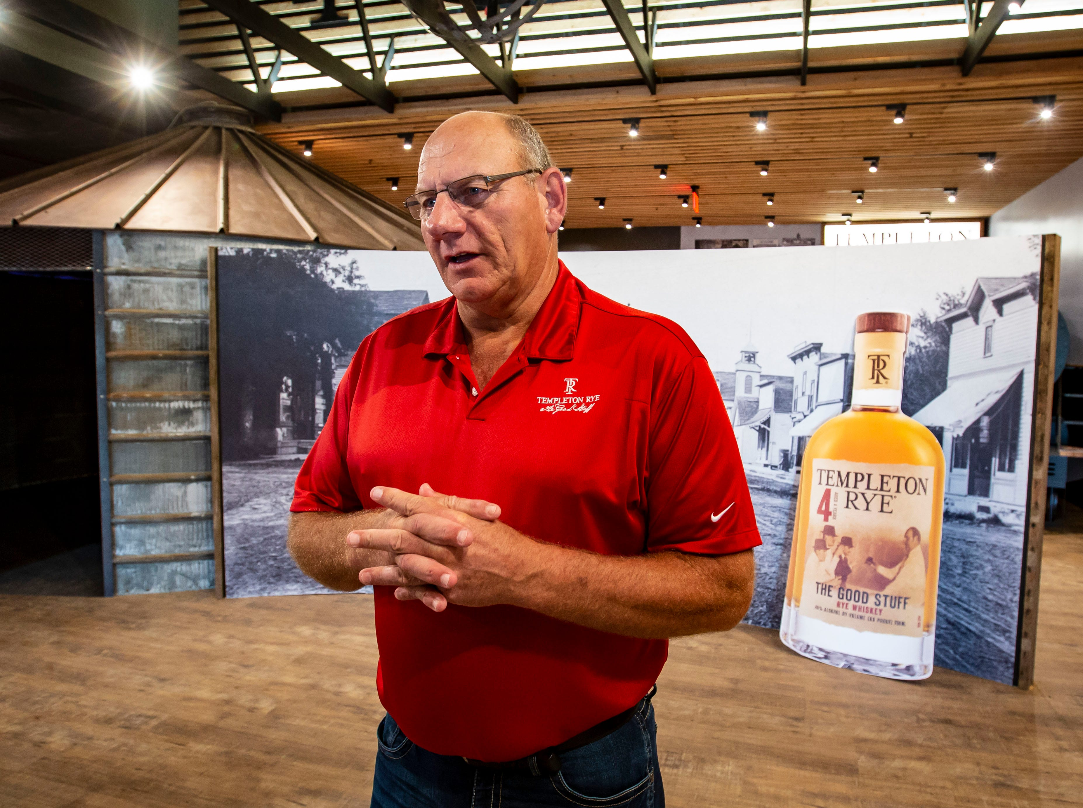 Co-founder Keith Kerkhoff at the Templeton Rye museum in their new $35 million distillery in Templeton, Iowa, shown here Monday, Aug. 6, 2018.