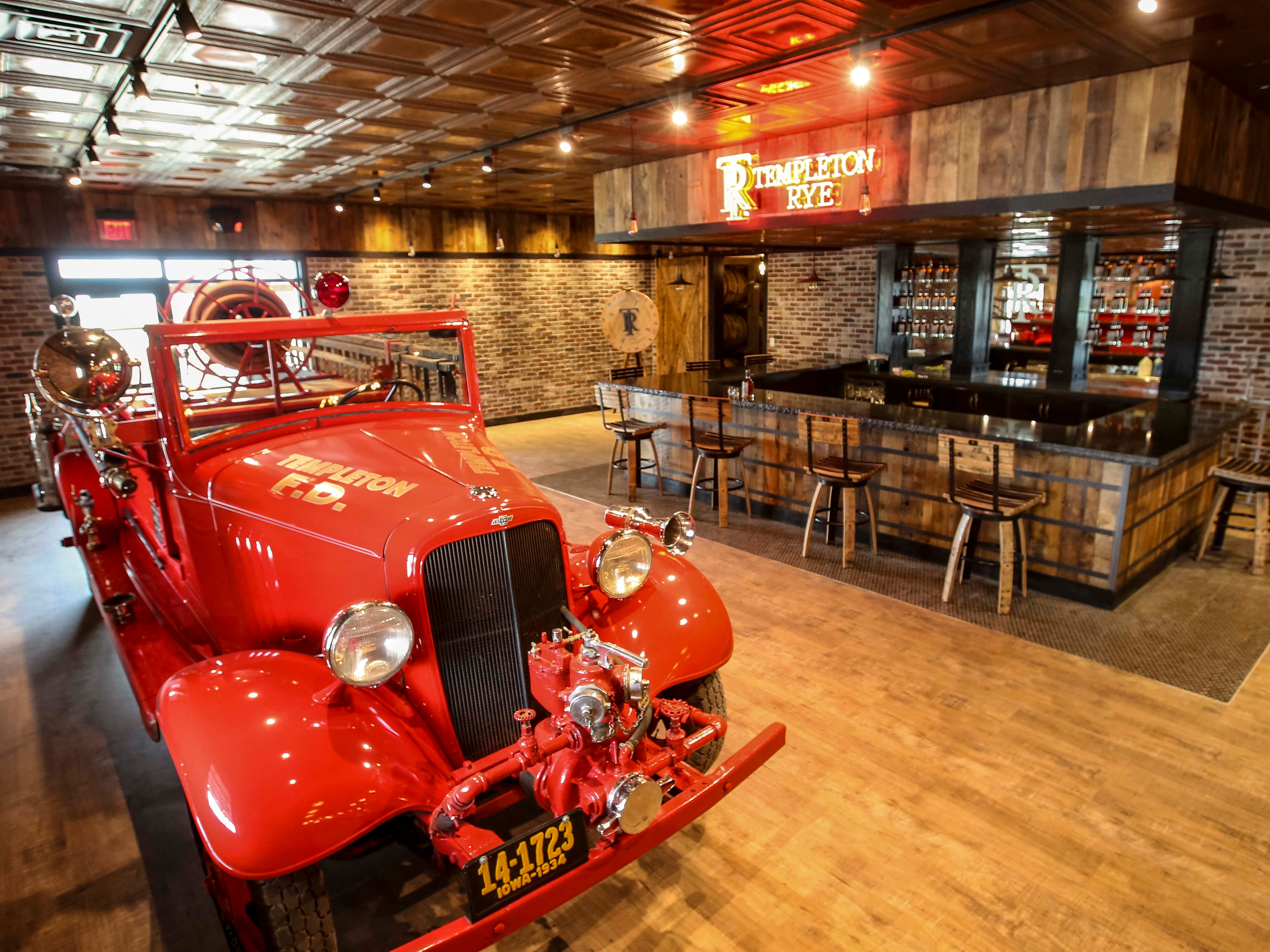 Sampling bar for Templeton Rye in their new $35 million distillery in Templeton, Iowa, shown here Monday, Aug. 6, 2018, featuring a museum and visitor's center.