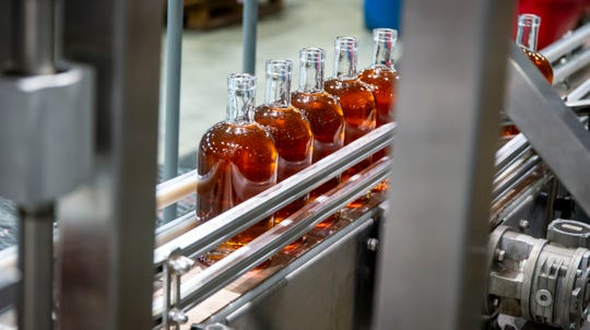Templeton Rye being bottled at their new $35 million distillery in Templeton, Iowa, shown here Monday, Aug. 6, 2018.