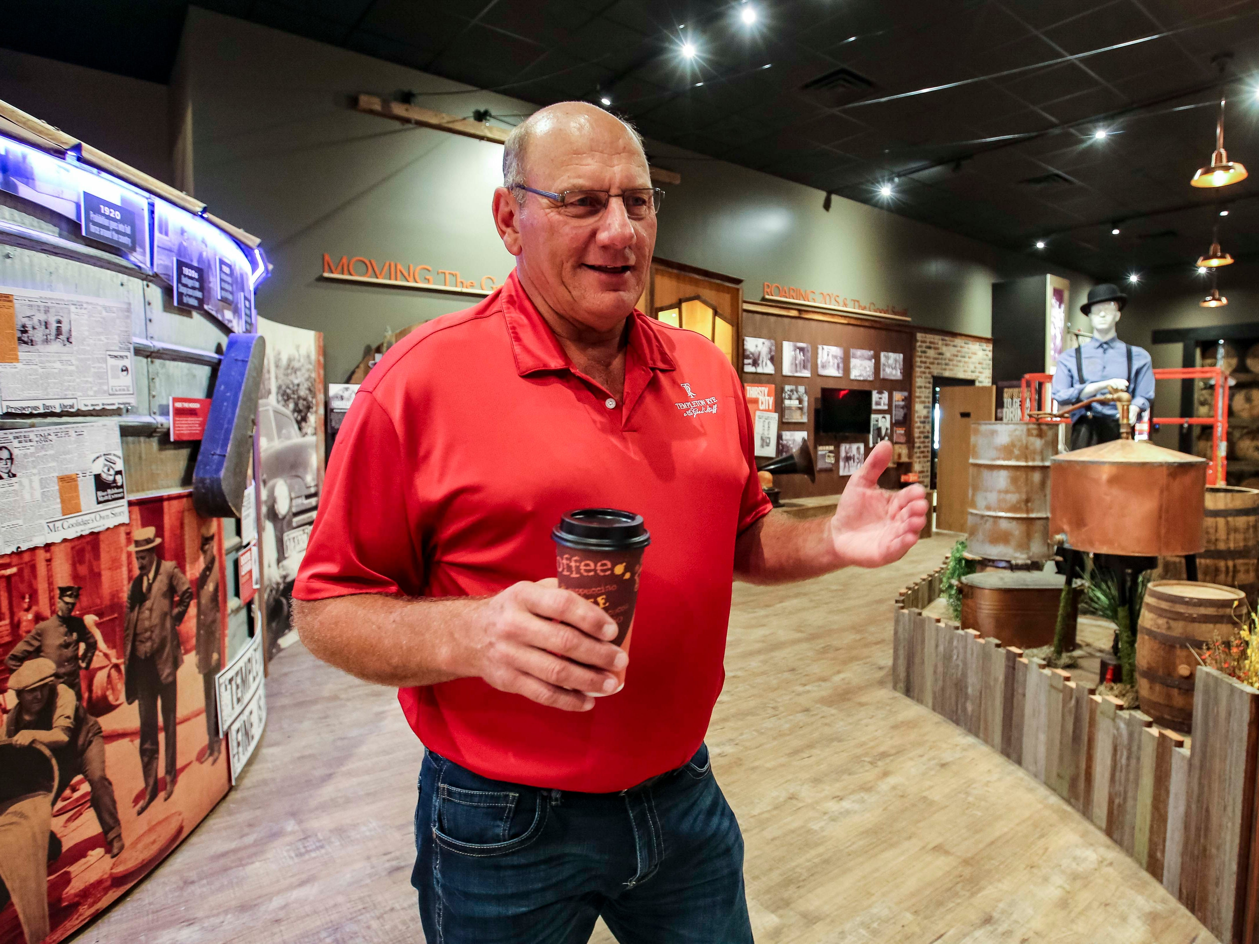 Co-founder Keith Kerkhoff at Templeton Rye's $35 million distillery in Templeton, Iowa, shown here Monday, Aug. 6, 2018, featuring a museum and visitor's center.