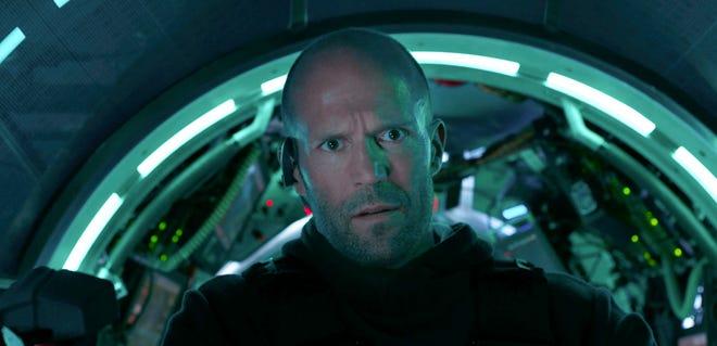 "Jason Statham in ""The Meg."""