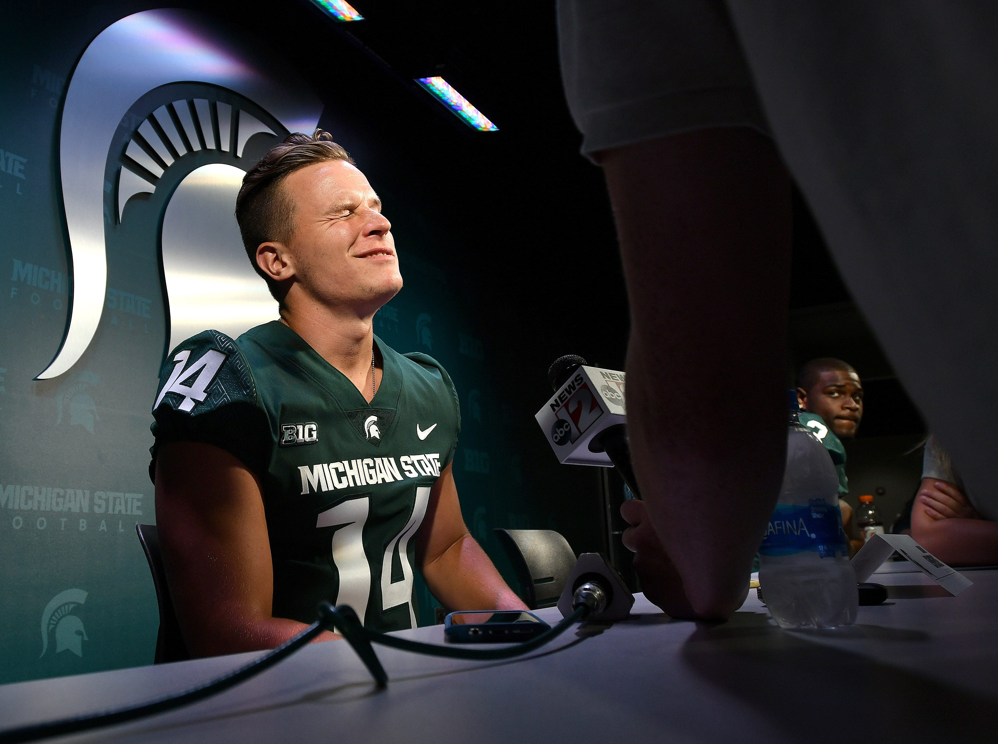 Everything was going fine for quarterback Brian Lewerke until some reporter asked him about his golf game.
